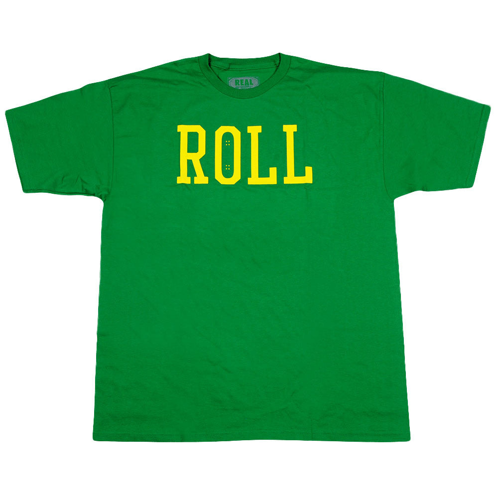 Real Roll S/S - Men's T-Shirt - Green/Yellow