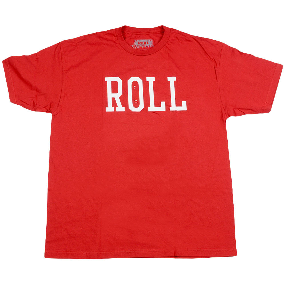 Real Roll S/S - Men's T-Shirt - Cardinal/White