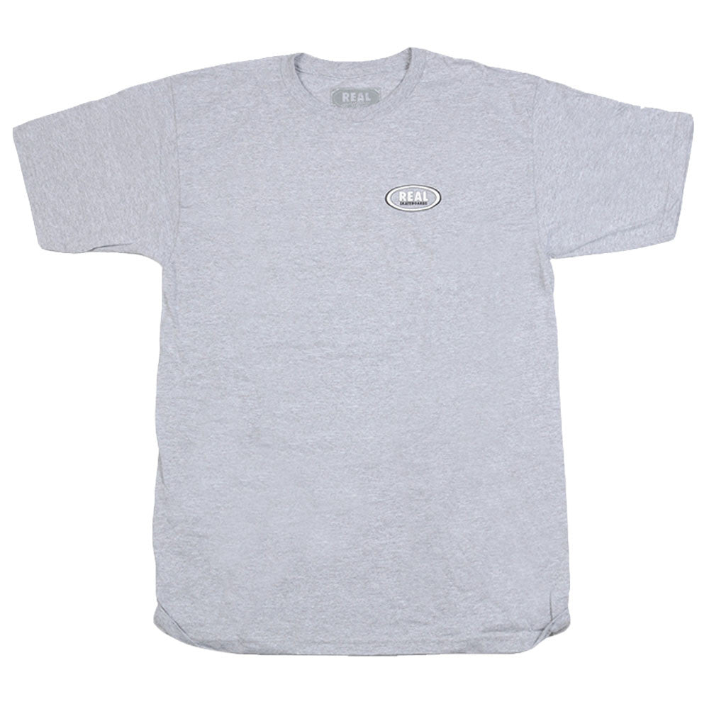 Real Stock Oval S/S - Men's T-Shirt - Heather Grey