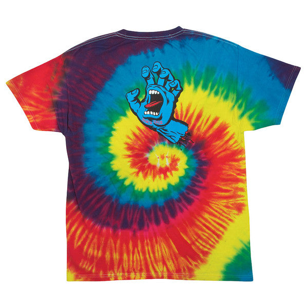 Santa Cruz Screaming Hand Regular S/S Mens T-Shirt - Reactive Rainbow