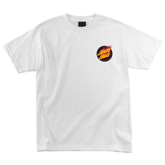 Santa Cruz Flaming Dot Regular S/S Men's T-Shirt - White