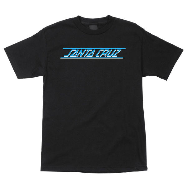 Santa Cruz Classic Strip Regular S/S - Black - Men's T-Shirt