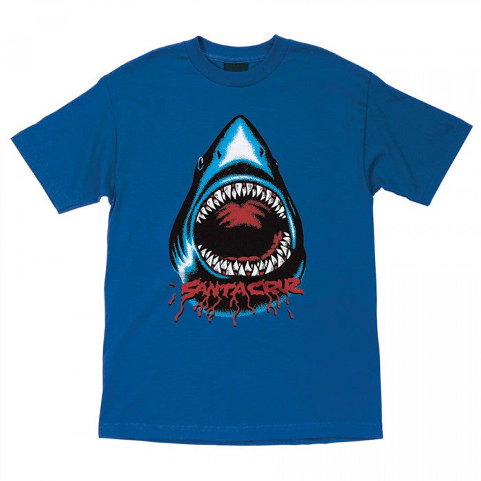 Santa Cruz Retro Shark Regular S/S Youth T-Shirt - Royal Blue