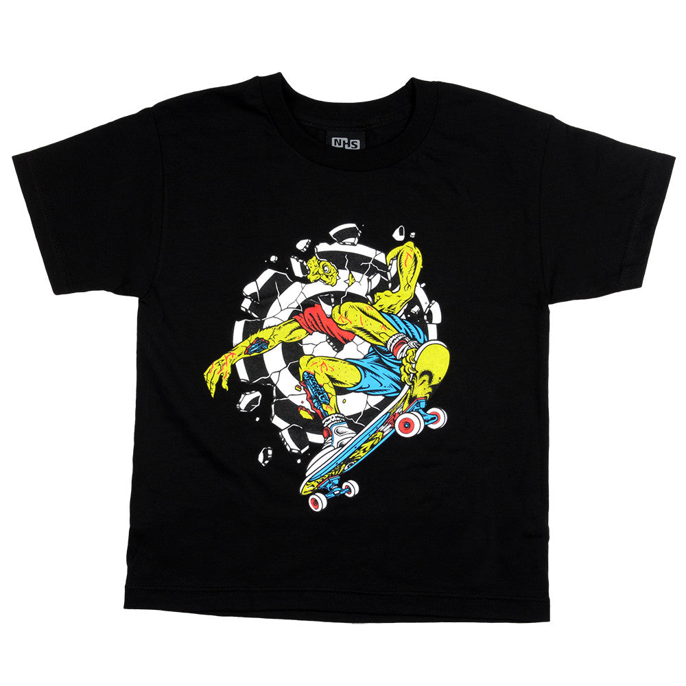 Santa Cruz Rob Smasher Regular S/S - Black - Youth T-Shirt