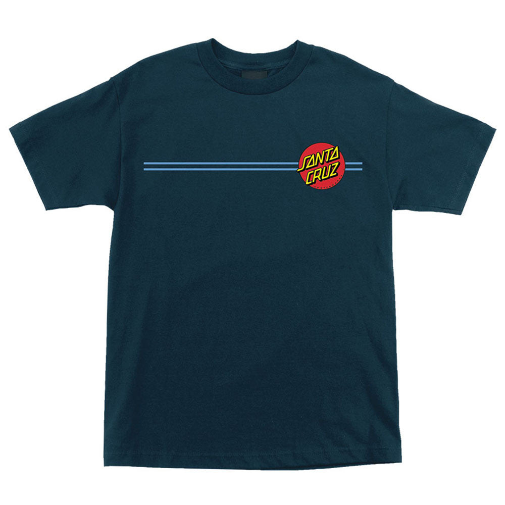 Santa Cruz Screaming Dot Regular S/S T-Shirt - Harbor Blue