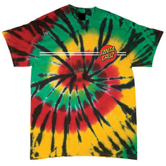 Santa Cruz Classic Dot Regular S/S Men's T-Shirt - Rasta Web