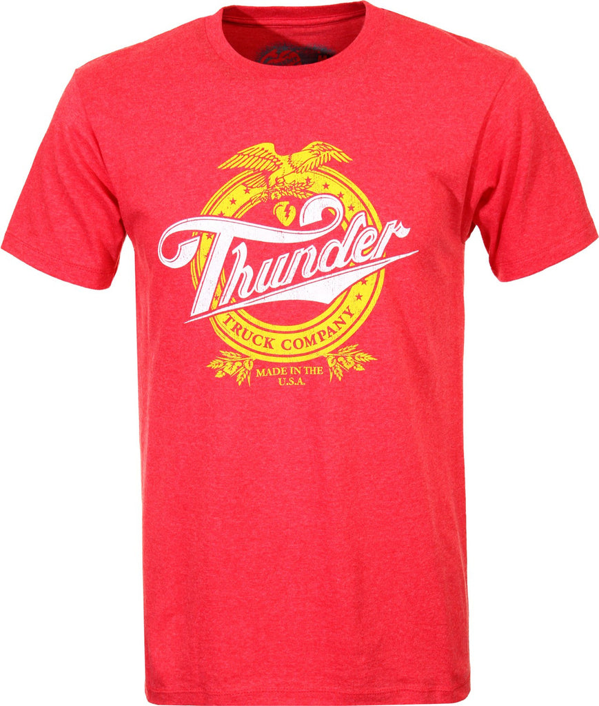 Thunder Know Life Premium Slim S/S Men's T-Shirt - Red
