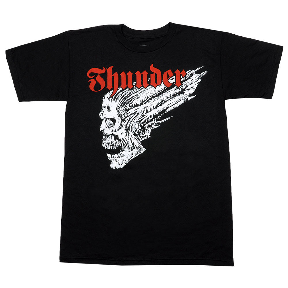 Thunder Screaming Skull S/S Men's T-Shirt - Black