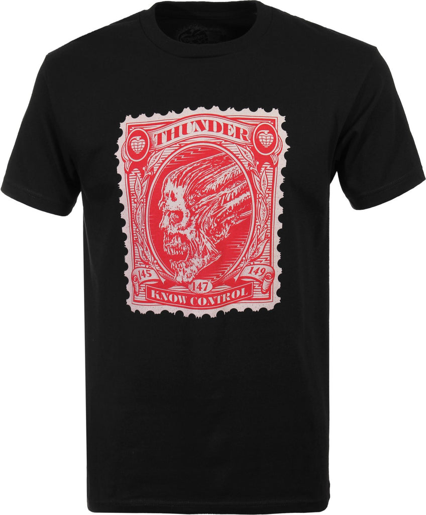 Thunder Stamp S/S Men's T-Shirt - Black/Red