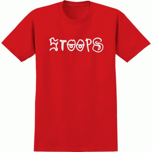 Krooked Still Stoops S/S Men's T-Shirt - Red/White