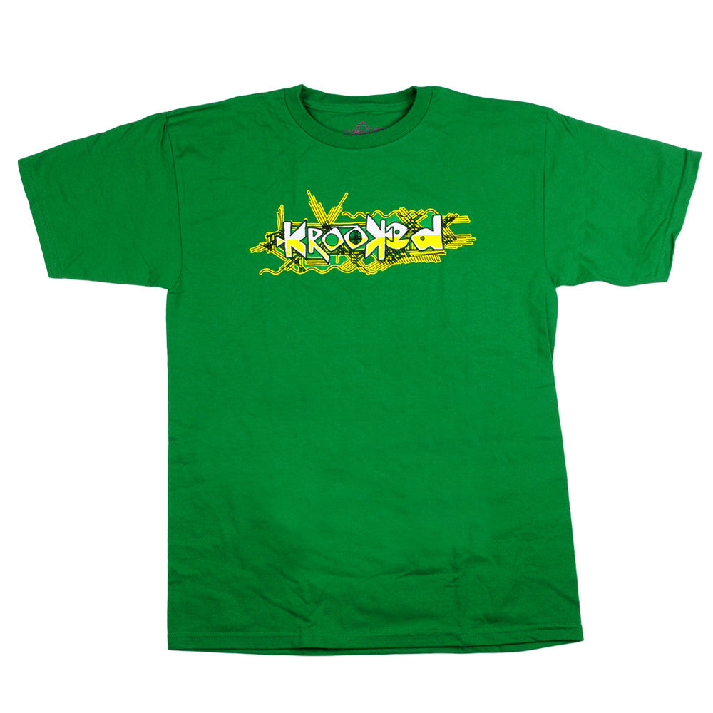 Krooked S/S - Green/Yellow/White - Men's T-Shirt