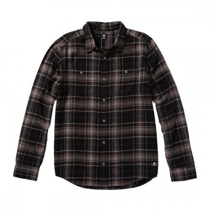 DC Kingsmen L/S - Pewter Plaid - Men's T-Shirt