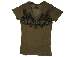 Fox Calaveras V-Neck S/S Men's T-Shirt - Fatigue Green