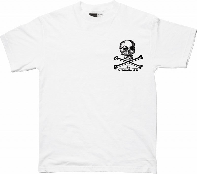 Chocolate El Choco Skull Men's T-Shirt - White