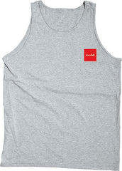 Chocolate Red Square Men's Tank Top - Heather Grey