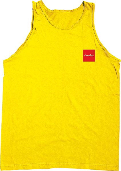 Chocolate Red Square Men's Tank Top - Yellow