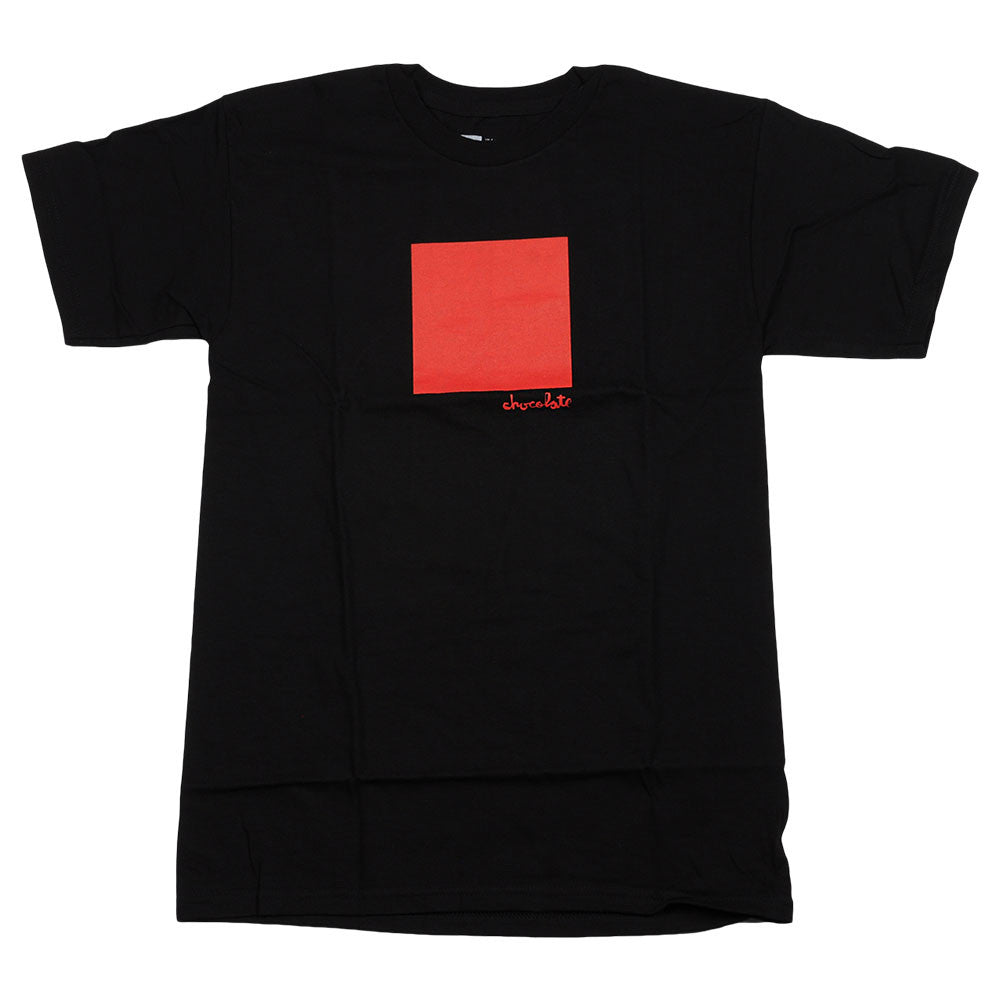 Chocolate Large Off Square S/S Men's T-Shirt - Black