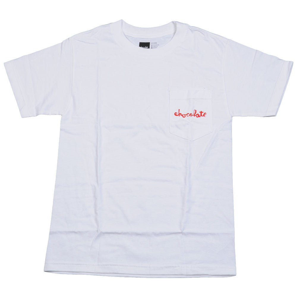 Chocolate Chunk Pocket Men's T-Shirt - White