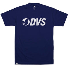 DVS Action Logo S/S Men's T-Shirt - Navy/White