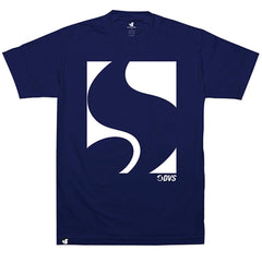 DVS Block Icon S/S Men's T-Shirt - Navy/White