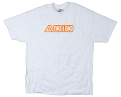 Adio Outline S/S Men's T-Shirt - White/Gold