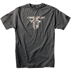 Fallen Trademark S/S Men's T-Shirt - Heather Charcoal/Aloha From Hell
