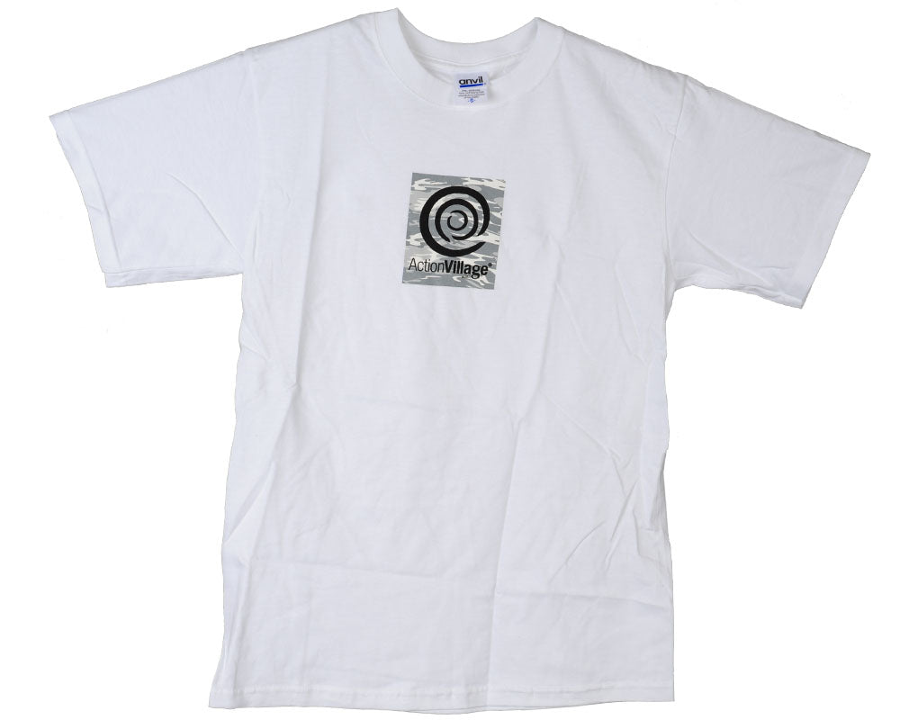 Action Village Anvil Box Logo S/S Men's T-Shirt - White