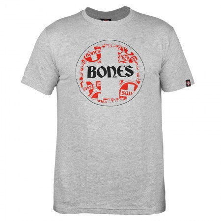 Bones Bearings Swiss Multi Circle - Grey - T-Shirt