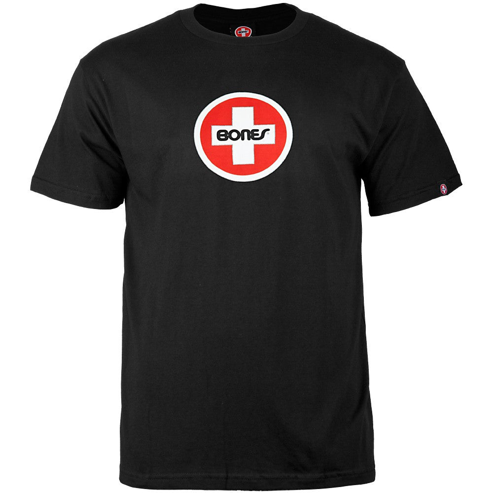 Bones Bearings Swiss Circle S/S Men's T-Shirt - Black