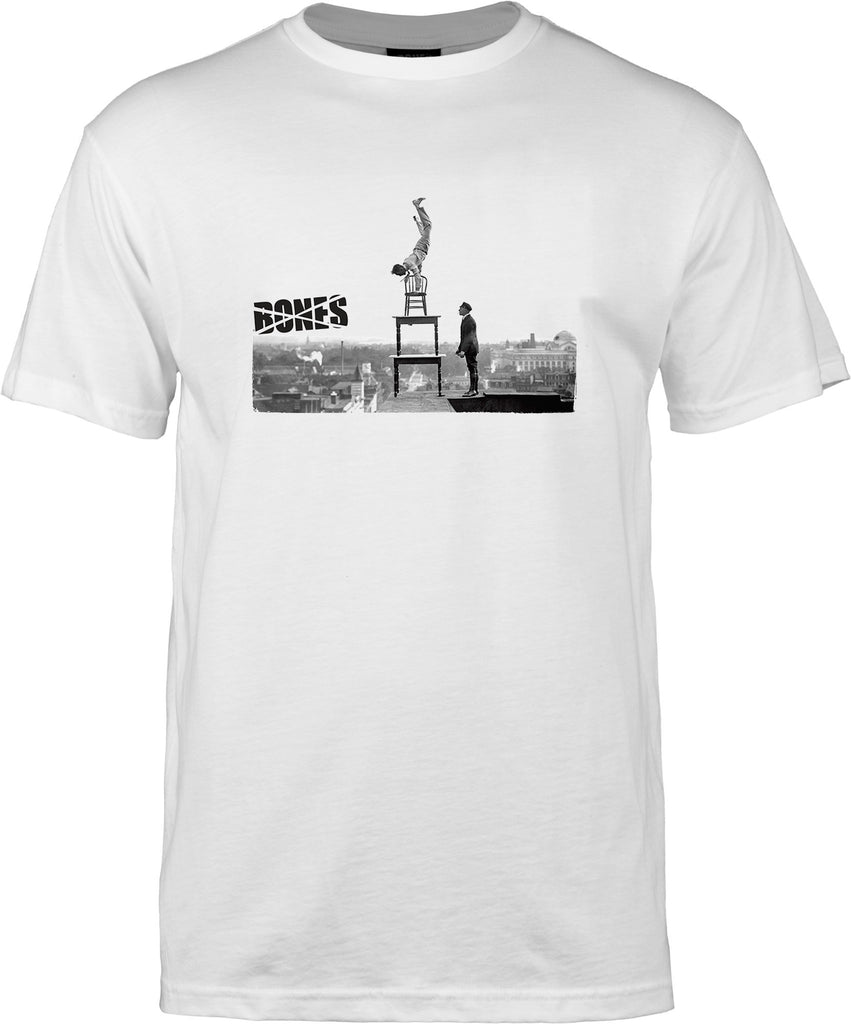 Bones Handstand S/S Men's T-Shirt - White