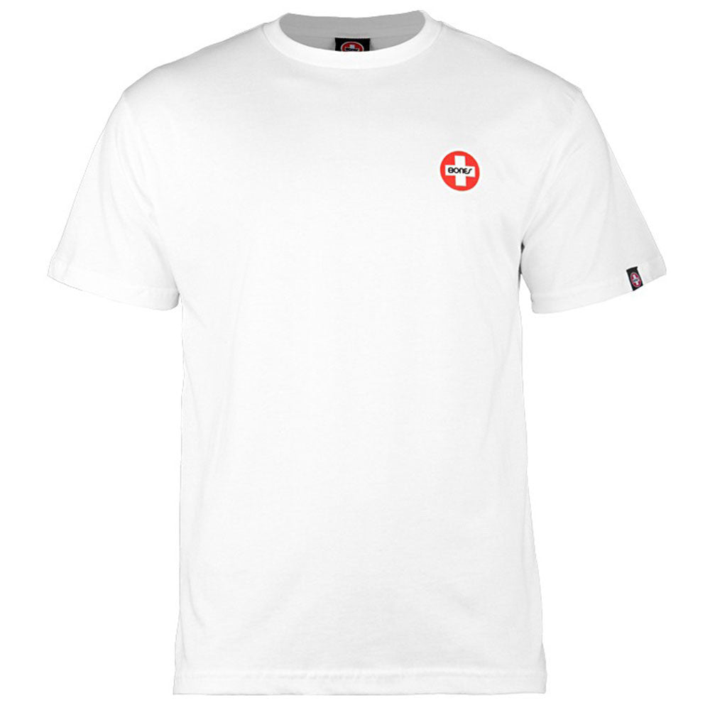 Bones Bearings Small Swiss Logo S/S Men's T-Shirt - White