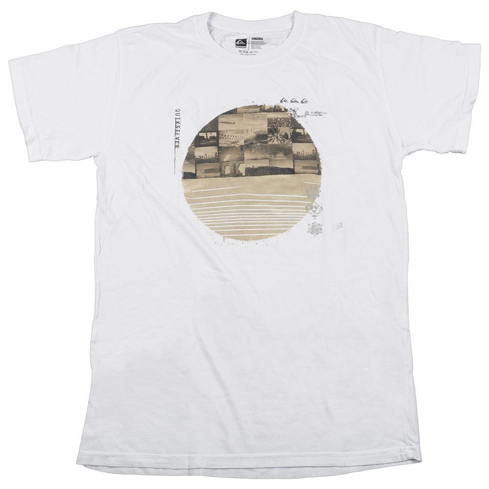 Quiksilver Entry Stamp Slim Fit Mens T-Shirt - White