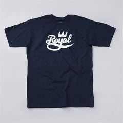 Royal Crown Script Men's T-Shirt - Navy