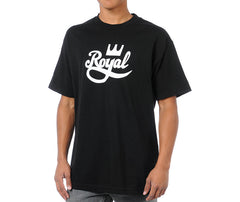 Royal Crown Script Men's T-Shirt - Black