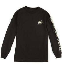 Royal Crown Script L/S Men's T-Shirt - Black