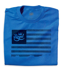 Royal Flag Men's T-Shirt - Blue/Black