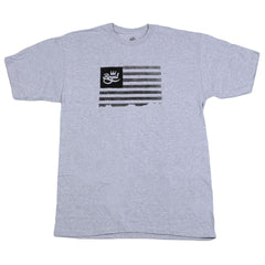 Royal Flag Men's T-Shirt - Heather Grey/Black