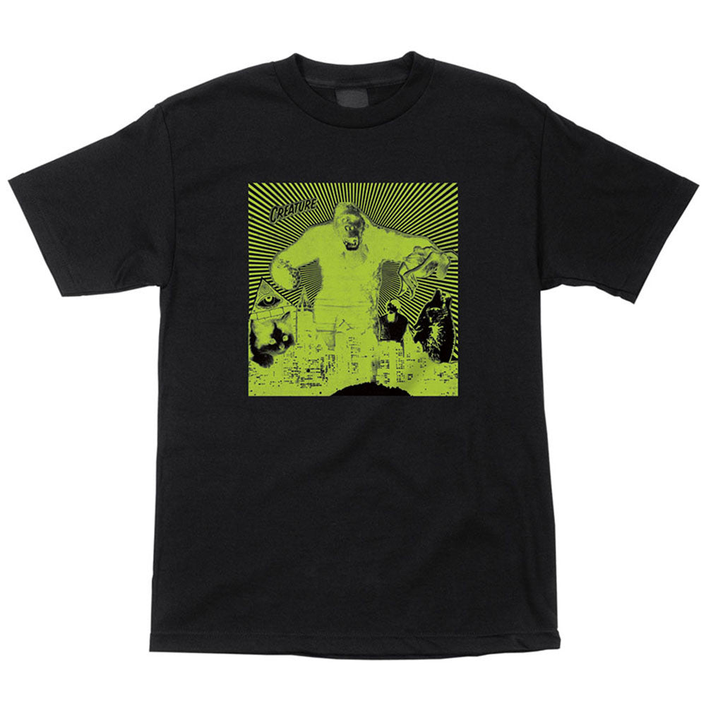 Creature Attack Regular S/S Men's T-Shirt - Black/Green