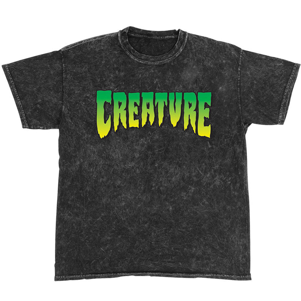Creature Logo Regular S/S Men's T-Shirt - Mineral Black