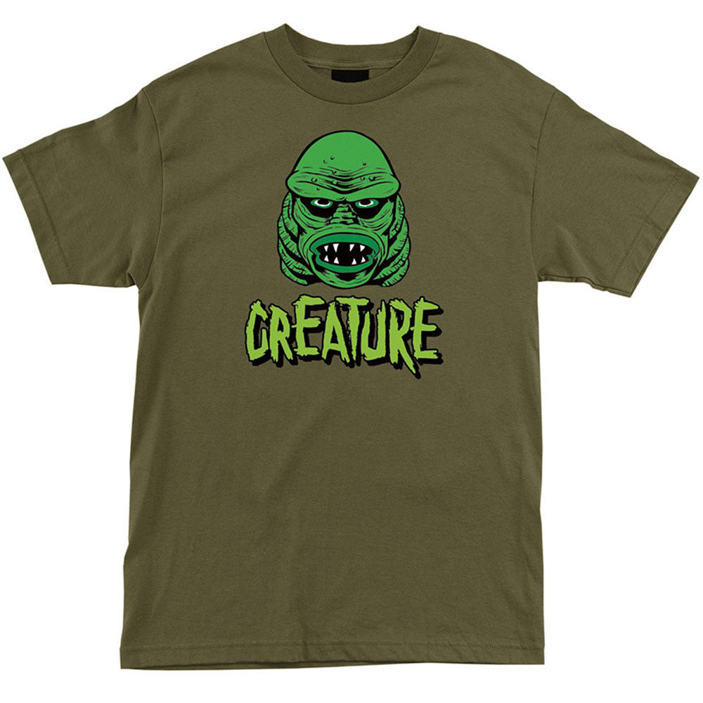 Creature Black Lagoon Regular S/S Men's T-Shirt - Military Green
