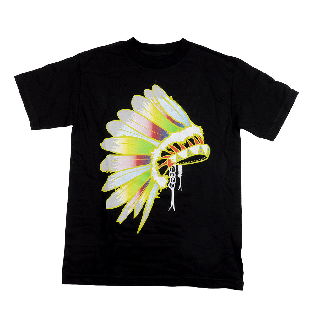 Neff Native Men's T-Shirt - Black/Yellow