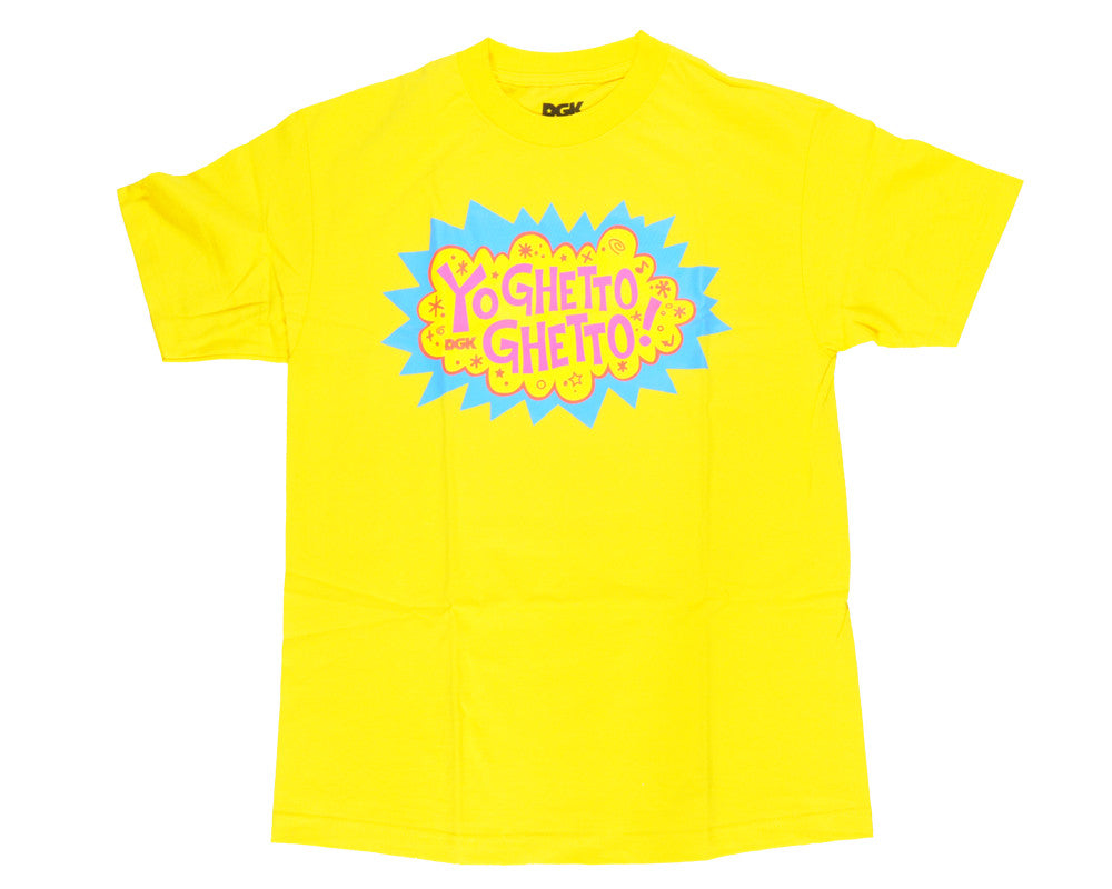 DGK T's Yo Ghetto Ghetto Men's T-Shirt - Yellow