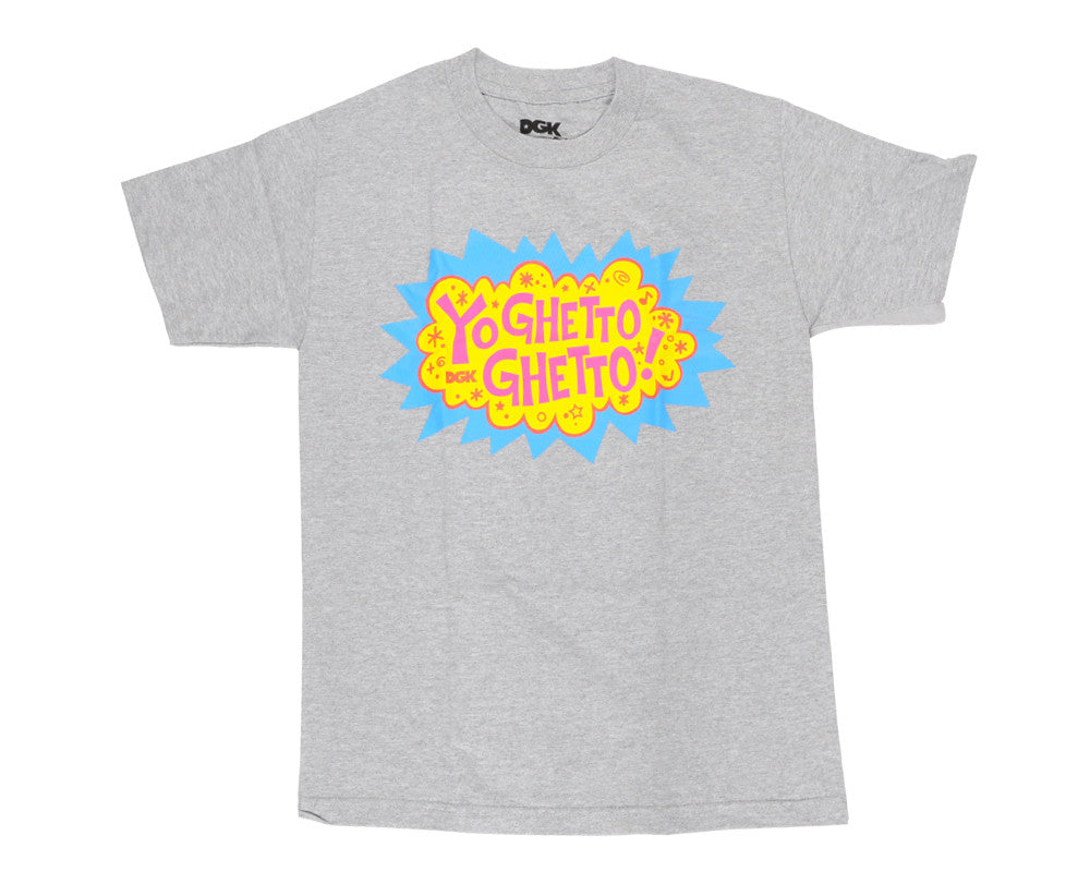 DGK T's Yo Ghetto Ghetto Men's T-Shirt - Heather Grey