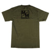 Metal Mulisha Stripes T-Shirt - Olive - Mens T-Shirt