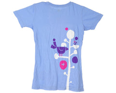 Special Blend Bird Fun S/S Women's T-Shirt - Bluejay