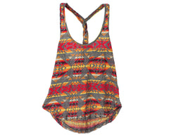 Obey Navajo Women's Tank Top - Heather Charcoal