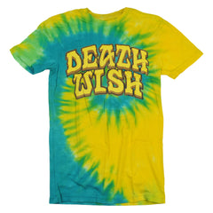 Deathwish Great Death Men's T-Shirt - Yellow/Blue Tie-Dye
