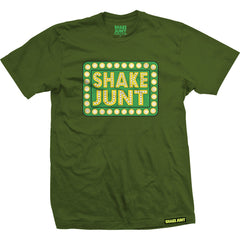 Shake Junt Box Logo Forest S/S Men's T-Shirt - Green