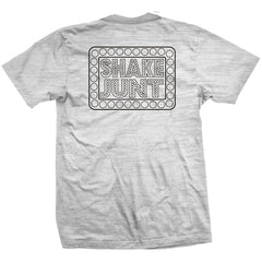 Shake Junt Box Logo S/S Men's T-Shirt - White Burnout