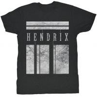 Jimi Hendrix White Bars T-Shirt - Black/White